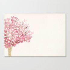 Cherry Tree Watercolor Canvas Print