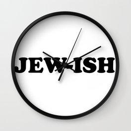 JEW-ISH Nice Jewish Hanukkah Gifts Wall Clock