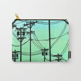 Industrial poles aqua Carry-All Pouch