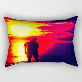 A Shadow Of Man Rectangular Pillow