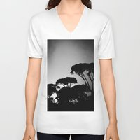 rome V-neck T-shirts featuring rome by chicco montanari