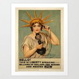 Vintage poster - Liberty Bonds Art Print