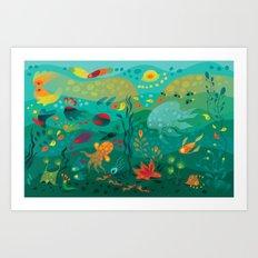 Wobbly Sea Art Print