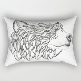 Feather Bear Rectangular Pillow