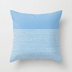 Riverside - Placid Blue Throw Pillow