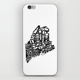 Typographic Maine iPhone Skin