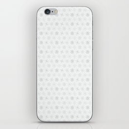 White Festive Christmas Snowflake Stripes Seamless Frost iPhone Skin