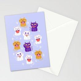 Lucky Waving Kitty Cat Maneki Neko Stationery Cards