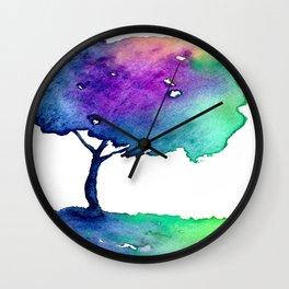 Hue Tree II Wall Clock