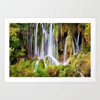 Dreamlike Waterfall Art Print