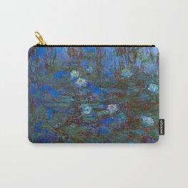 Claude Monet artwork - Blue Water Lilies Carry-All Pouch