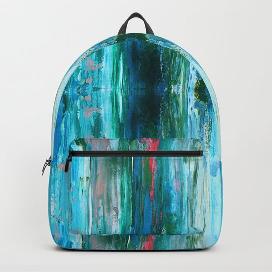 Abstract Ice Pattern Backpack