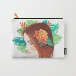 Tropical Flower Girl Carry-All Pouch