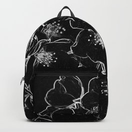 FLOWERS AT MIDNIGHT - IN BLACK & WHITE Backpack