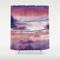 oakland Shower Curtains featuring Lines  by Last Call