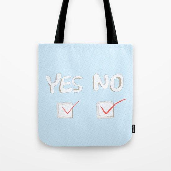 Yes No Tote Bag