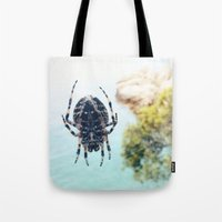 spider Tote Bags featuring Spider by Bor Cvetko