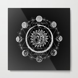 Boho Moon Metal Print