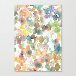 Watercolour spirographs Canvas Print