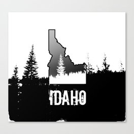 Idaho: Black & White Canvas Print