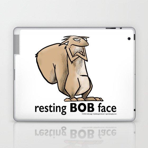 Resting Bob Face Laptop & iPad Skin
