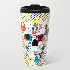 Abstract Skull Metal Travel Mug