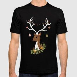 Christmas Deer in Blush Pink T-shirt