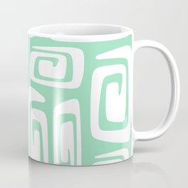 Mid Century Modern Cosmic Abstract 613 Mint Green Coffee Mug