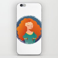 merida iPhone & iPod Skins featuring Merida by Chelli Reyes