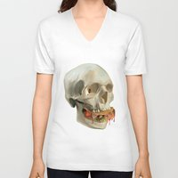 taco V-neck T-shirts featuring Death By Taco by Fontolia (Katie Blaker)