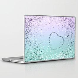 Sparkling MERMAID Girls Glitter Heart #1 #decor #art #society6 Laptop & iPad Skin