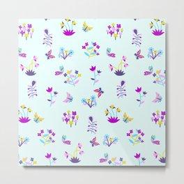 Mod Ditsy Floral Metal Print