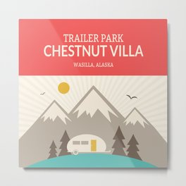 Wilderness: Chestnut Villa Trailer park Metal Print