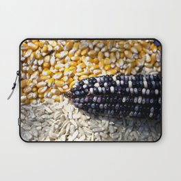 White, yellow and blue corn Laptop Sleeve