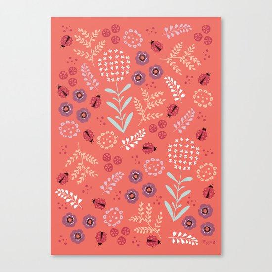 Little Ladybugs Canvas Print