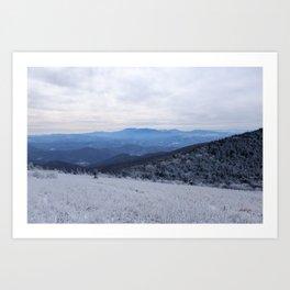 Winter at Roan Mountain Art Print