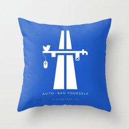 AutoBan Yourself Throw Pillow