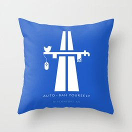 AutoBan Yourself Throw Pillow