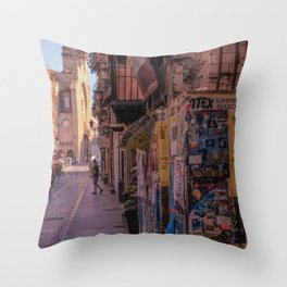 Tagged Street Throw Pillow
