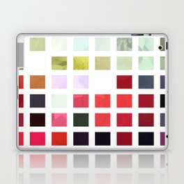 Mixed Color Poinsettias 2 Abstract Rectangles 2 Laptop & iPad Skin