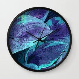 Hosta Leaves in Night Attire Wall Clock