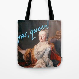 Yas, Queen! Maria Theresa (Blue) Tote Bag
