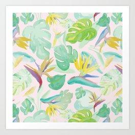 Birds of Paradise Pattern Art Print