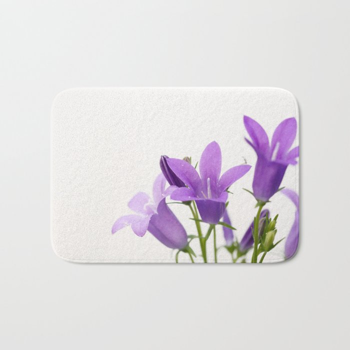 PURPLE FLOWERS - Bellflowers #2 #decor #art #society6 Bath Mat