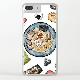 Favourite Japanese Foods Clear iPhone Case