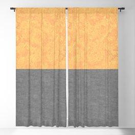 Orange Concrete and Marble Blackout Curtain