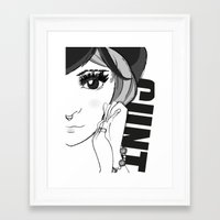 cunt Framed Art Prints featuring Cunt by Domenico Principato