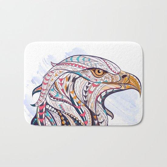 Colorful Ethnic Eagle Bath Mat