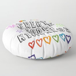 TREAT PEOPLE WITH KINDNESS - PRIDE EDITION Floor Pillow
