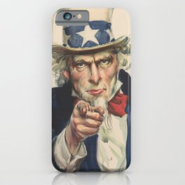 I want you for u.s army iPhone Case